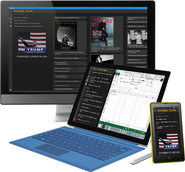 Drudge Live is a universal Windows app that works across all your devices.