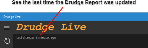 See the last time the Drudge Report was updated.